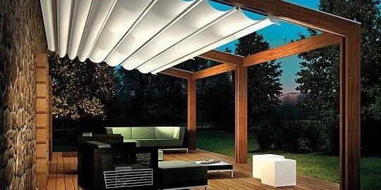 Ordinaire Retractable Pergola Canopy U2013 Turn Your Hot Deck Into Cool, Shaded Outdoor  Room